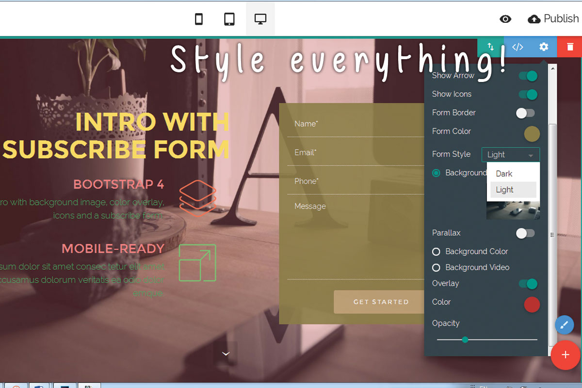 Drag and Drop Responsive Web Site Creator Review