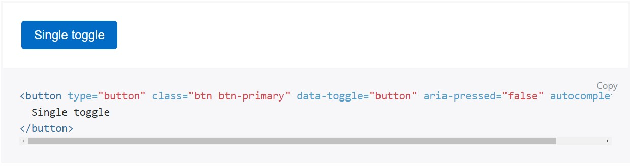 Toggle states  supplied  by simply Bootstrap buttons