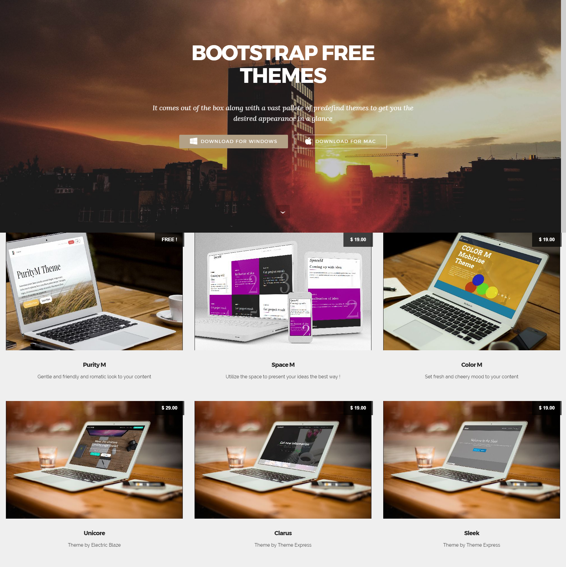 HTML5 Bootstrap Mobile-friendly Themes