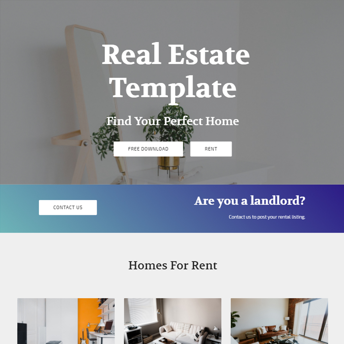 HTML Bootstrap Real Estate Themes