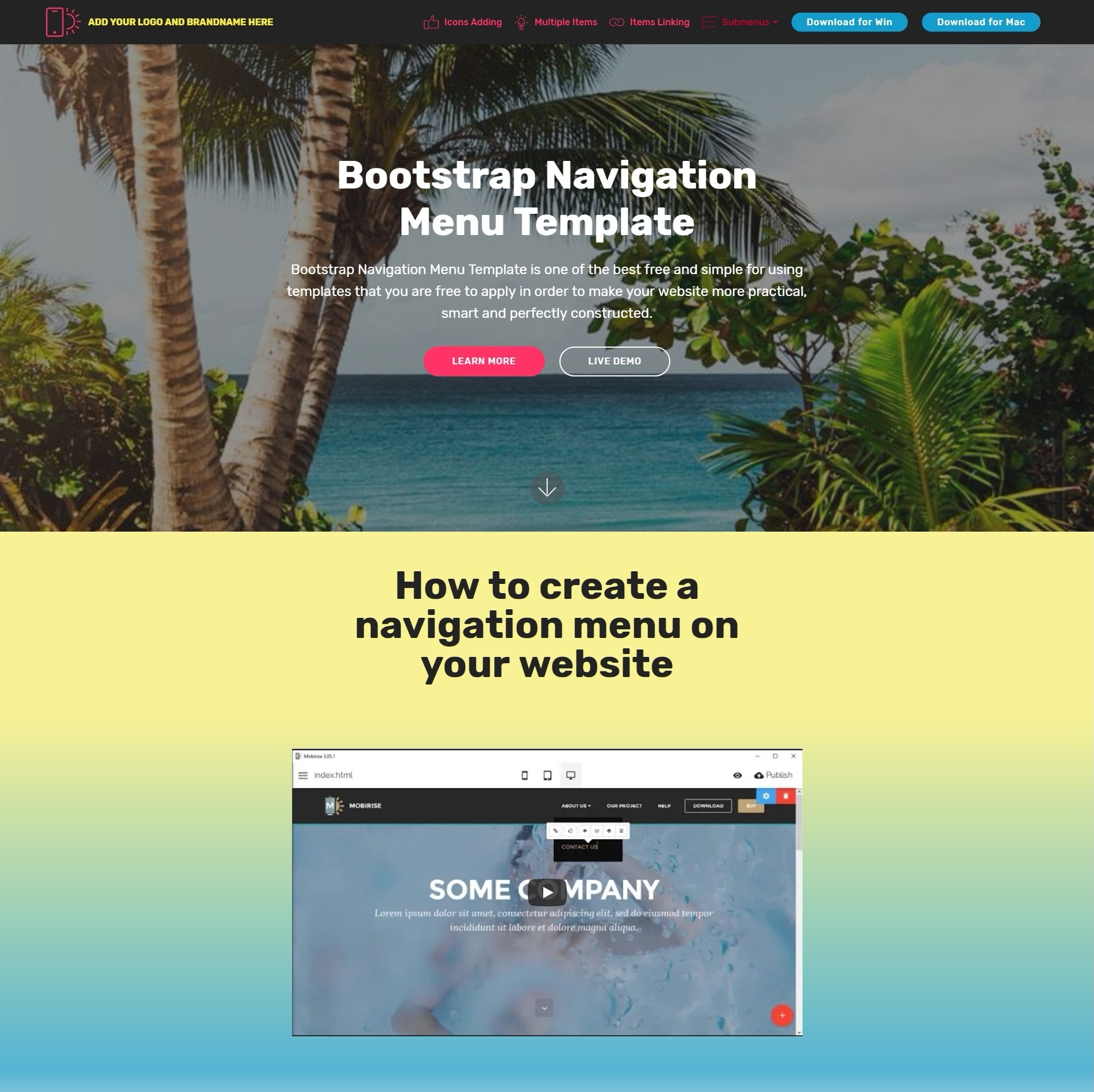 Creative and Beautiful Responsive Bootstrap Carousel Video
