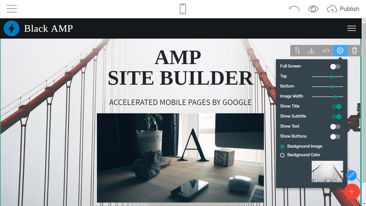 Mobile-friendly Webpage Creator
